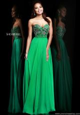 2014 Sherri Hill Fitted Waist Prom Dress 8545