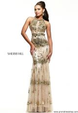 Sherri Hill 9714.  Available in Gold, Purple, Red, Royal