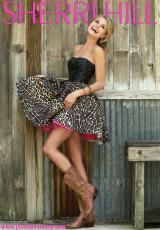 Sherri Hill Short 32146.  Available in Black/Leopard