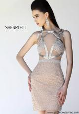 Sherri Hill Short 11036.  Available in Nude/Ivory
