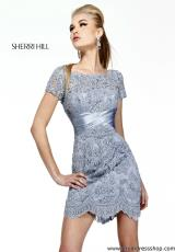 2014 Sherri Hill Short Lace Dress 21204