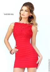 Sherri Hill Short 32116.  Available in Black, Blue, Coral, Red