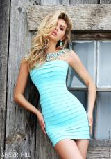 Sherri Hill Short 32239.  Available in Black, Blue, Coral, Navy
