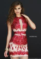 Sherri Hill Short 9703.  Available in Emerald, Gold, Purple, Red, Royal
