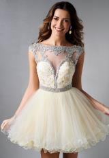 Splash Open Back Homecoming Dress 2014 E458