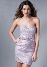 Splash Multi Color Homecoming Dress 2014 E474