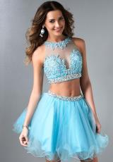 Splash Sheer Beaded Top Homecoming Dress 2014 E488