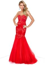 Splash Strapless Lace Dress 2014 J234