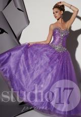 2014 Studio 17 Corset Bodice Prom Dress 12469