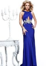 Tarik Ediz Halter Top Homecoming Dress 92209
