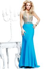Tarik Ediz Halter Top Homecoming Dress 92308