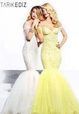 2014 Tarik Ediz Tulle Skirt Prom Dress 92335