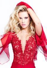 2014 Tarik Ediz Lace Prom Dress 92359
