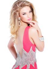 2014 Tarik Ediz V- Neckline Prom Dress 92327