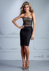 Terani Evenings C2066.  Available in Black/Nude