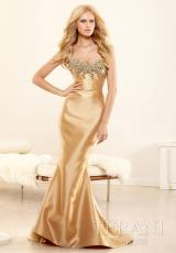Terani Evenings E3395.  Available in Gold, Taupe