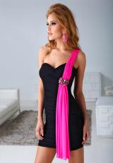 Terani H1219.  Available in Black/Fuchsia, Red/Black
