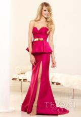 2014 Terani Fitted Bodice Prom Dress P3185