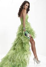2013 Organza High Low Tiffany Prom Dress 16762