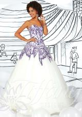 Tiffany 61113.  Available in Purple/Ivory, Red/Champagne