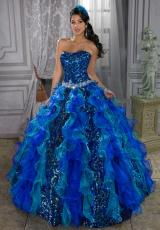 2013 Tiffany Quince 26673 Ruffled Skirt Dress