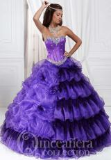 Amazing Organza Tiffany Quince Ball Gown