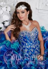 Tiffany Quinceanera 26788.  Available in All White, Pink/Orchid/Keylime, Royal/Lavender/Turquoise