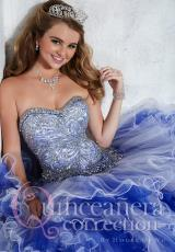 Tiffany Quinceanera 26790.  Available in Pink/Yellow, White/Royal, White/White