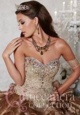 Tiffany Quinceanera 26794.  Available in Bronze/Gold, Turquoise/Aqua
