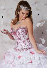 Tiffany Quinceanera 26795.  Available in White/Fuchsia, White/Turquoise, White/White