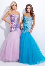 Strapless 2014 Tony Bowls Evenings Prom Dress TBE11344
