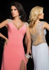 Tony Bowls Evenings TBE11417.  Available in Aqua, Light Coral