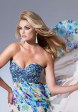 Tony Bowls Evenings TBE11540.  Available in Coral/Multi