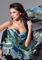 Tony Bowls Evenings TBE11548.  Available in Black/Green Multi