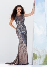 Tony Bowls Evenings TBE11555.  Available in Pewter/Nude