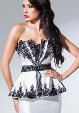 Tony Bowls Evenings TBE11558.  Available in Ivory/Black