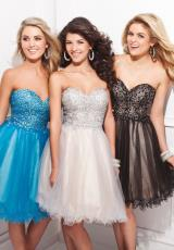 Tony Bowls Shorts TS21468.  Available in Black/Nude, Silver/Nude, Turquoise/Nude