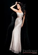 Tony Bowls Evenings TBE11334.  Available in Silver Gray