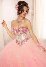 2014 Vizcaya Quinceanera Lace Back Dress 88090