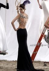 Alyce 2466.  Available in Black/Gold
