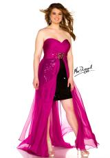 Fabulouss Plus Size 64267F.  Available in Magenta/Black