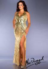 2014 Fabulouss Plus Size V- Neckline Dress 3975F