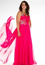 Fabulouss Plus Size 81609F.  Available in Aqua, Lipstick