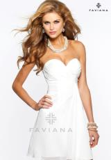 Faviana 7075.  Available in Black, Forest Green, Ivory, Magenta, Navy, Plum, Purple, Red, Smoke Gray