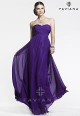 Faviana 7338.  Available in Black, Emerald, Ice Pink, Ivory, Ivory/Black, Purple, Red, Soft Navy, Turq. Stone