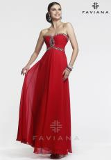 Faviana 7366.  Available in Black, Ivory, Marine Blue, Peacock Green, Purple, Red, Spearmint