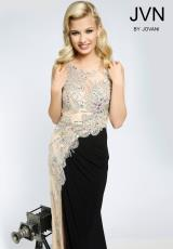 JVN by Jovani JVN92582.  Available in Black/Nude, White/Nude