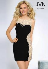 JVN by Jovani JVN81113.  Available in Aqua/Nude , Black/Nude, Nude/Nude