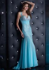 Jasz Couture 5327.  Available in Aqua, Navy, Nude, Red, White