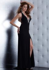 Jasz Couture 5437.  Available in Black/Silver
